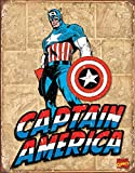 Poster Revolution Captain America Retro Panels BLECHSCHILD