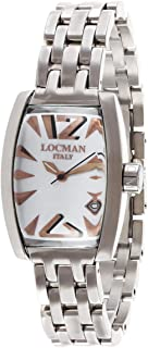 Locman Women's White Dial Stainless Steel Band Watch - 253198