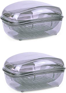 Plastic Soap Case Holder Container Box For Home , Large Size , Pack of 2