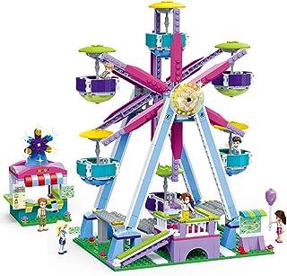 Yyz Serie de la Muchacha Bloques de ensamblaje Parque de Atracciones para niños Puzzle de ortografía Juguete Noria Regalo de cumpleaños