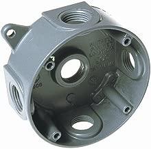 Hubbell 5361-0 Splice Box, 16.1 Cu-in, 1-1/2 in D, Gray