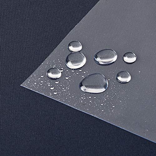 laro Tischfolie Tischdecke Transparent Durchsichtig Abwaschbar Garten-Tischdecke Tischschutz-Folie PVC Plastik-Tischdecken Wasserabweisend Eckig 0,3 mm Dicke Meterware |07|, Größe:100x160 cm