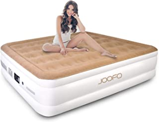 JOOFO Portable Queen Air Mattress, Premium Inflatable Air Beds with Built-in Pump for Fast Inflation (Queen Size)