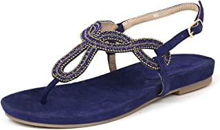 Saint G Womens Blue Leather Flats
