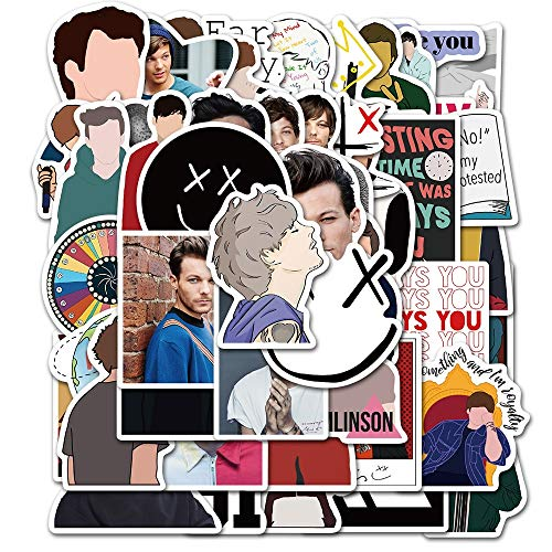 ZXXC 50Pcs Onedirection 1D Singer Louis Tomlinson Sticker For Diy Suitcase Guitar Laptop Car Motorcycle Styling Cool Decal Stickers
