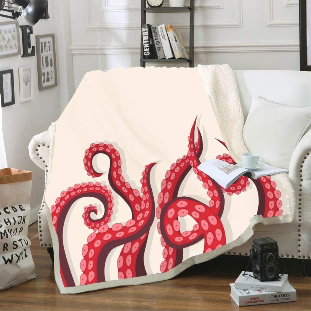 N A Cartoon All stores are sold Style Red Octopus F Paws Cozy Softer Cream-Colored Phoenix Mall