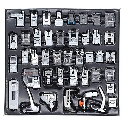 ShawFly 42 PCS Máquina de coser Prensatelas Juego de pies Máquina de coser doméstica Multifunción Prensatelas de costura Regalos adecuados para la mayoría de los modelos de máquinas de coser