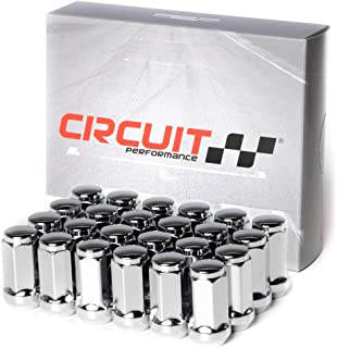 Circuit Performance 14x2.0 Chrome Closed End Bulge Acorn Lug Nuts Cone Seat Forged Steel (24 Pieces)
