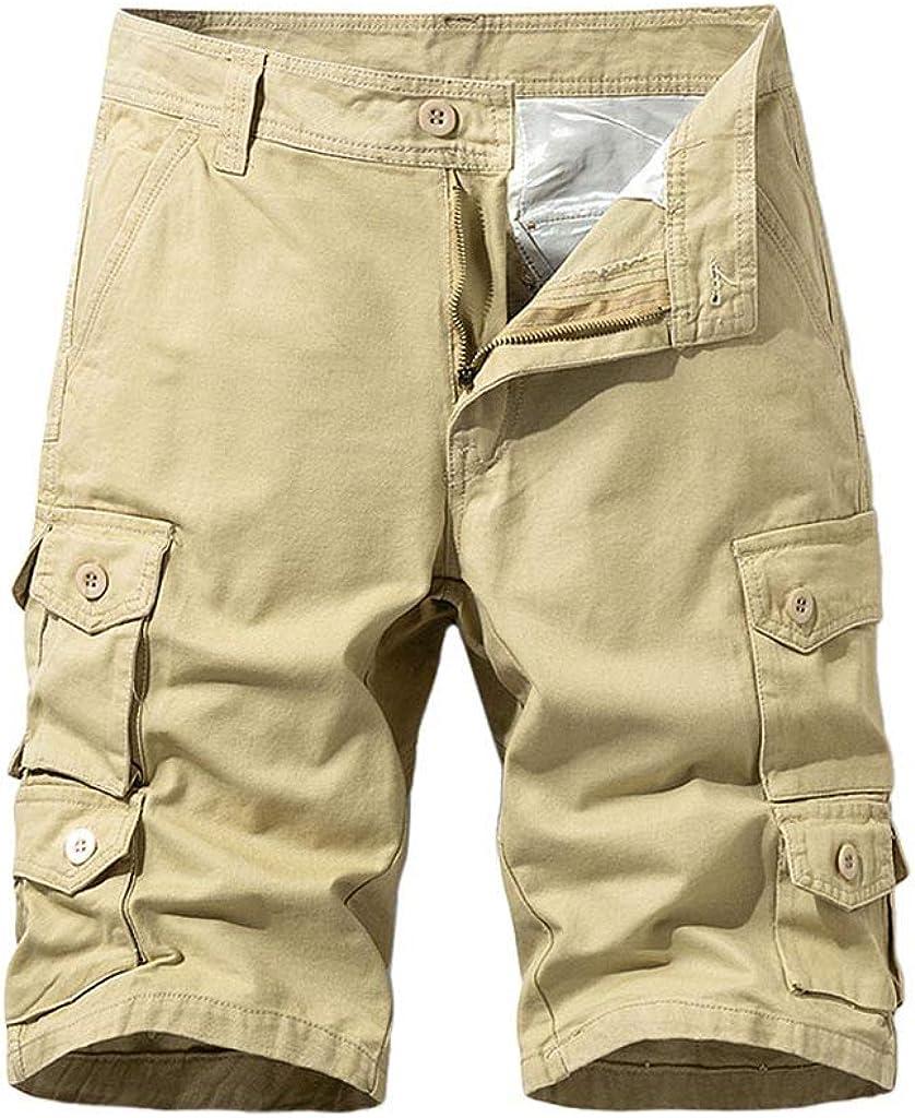 Men's Premium Twill Cargo Short, KLGDA Multi-Pockets Casual Cotton Sports-Wear Fashion Overalls