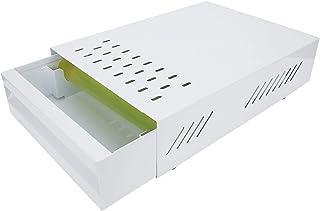 コーヒー挽いた箱、滑り止めフットマットアンチスプラッシュコーヒーノックボックス、コーヒーショップ用取り外し可能な引き出しタイプミルクティーショップ(white)