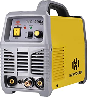 HZXVOGEN TIG Welder 220V 200A TIG ARC Stick MMA IGBT DC Inverter Continuous High Frequency Welding Machine for Stainless Steel Carbon Steel (Model: TIG200A)