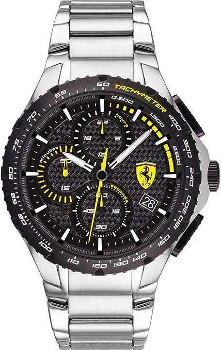 Orologio ferrari scuderia ferrari orologio quarzo con cinturino in acciaio inox 830729 0830729