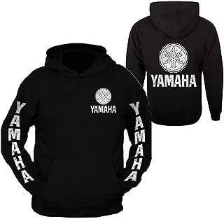 Silver Metal Yamaha Racing Black Long Sleeve TEE YZF R1 R6 YFZ Banshee Hoodie Hooded Sweatshirt