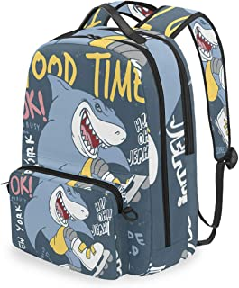 Mochila con bolsa cruzada desmontable, Cool Shark Computer Backpacks, bolsa para viaje, senderismo, camping