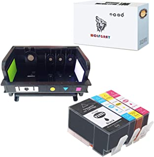 Wolfgray 1 Pack Remanufactured HP920 Printheads & 1Set Compatible HP920XL Ink Cartridge Replacement for HP OfficeJet 6000 OfficeJet 6500 OfficeJet 6500A OfficeJet 7000 OfficeJet 7500A and All ine one