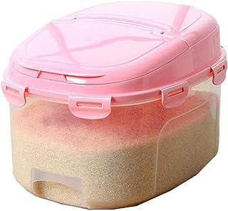AWAING Bocaux Céréales multifonction contenants en plastique entièrement étanche 13 kg résistant à l'humidité et des insec...