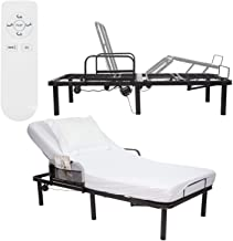 Vive Electric Bed Rail Frame - Adjustable Metal Base with Remote for Twin and Twin XL Size Mattress - Incline Riser for He...
