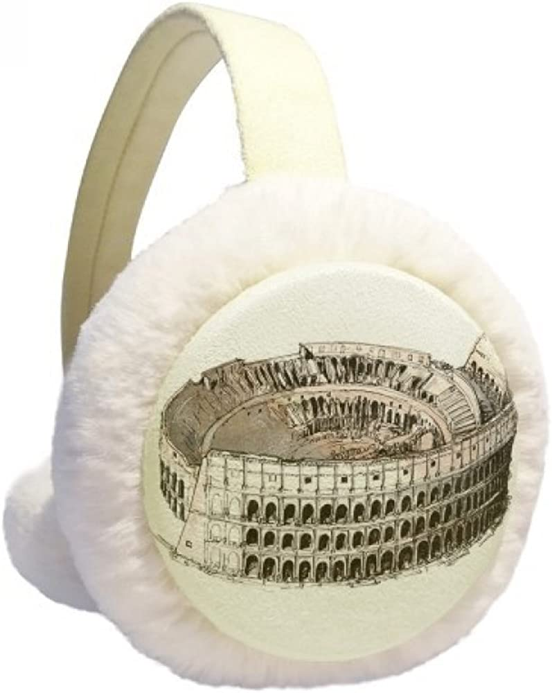 The Colosseum in Rome Italy Winter Fixed New color price for sale Ear Furry Warmer Knit Cable F