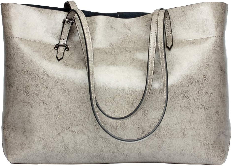 Topcloud Women's Handbags Vintage PU Leather Tote Shoulder Bag Large Handbag