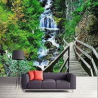 MAZF カスタム3D壁布現代自然風景写真壁画壁紙リビングルーム寝室背景壁画 250cm(B)x 200 cm(H)