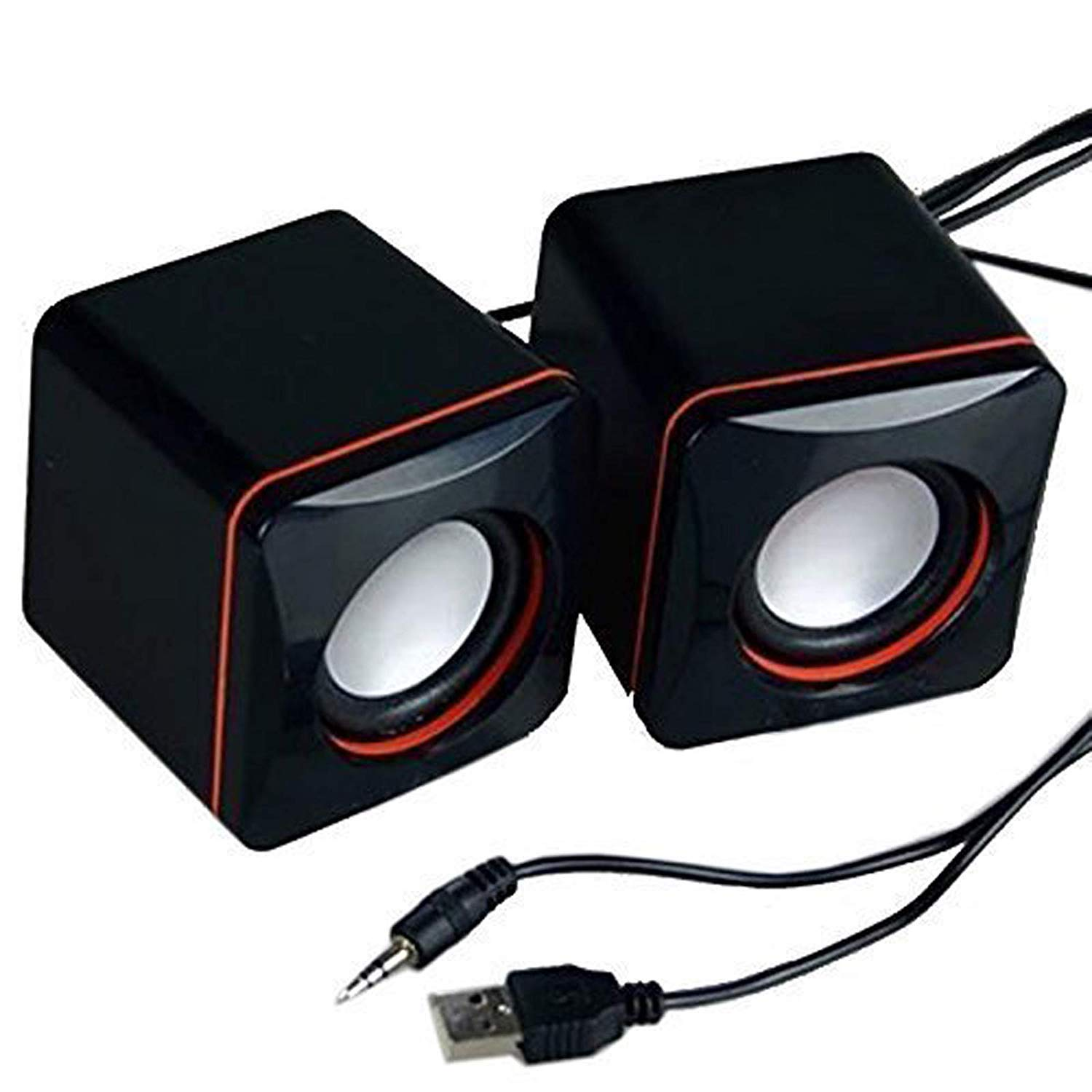 RONSHIN Portable Computer Speakers USB Powered Desktop Mini Speaker Bass Sound Music Player System Wired Small Speaker