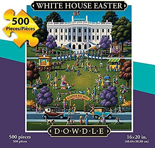 ahorra hasta un 30-50% de descuento DOWDLE FOLK ART Jigsaw Jigsaw Jigsaw Puzzle - blanco House Easter Egg Roll 500 Pc  Seleccione de las marcas más nuevas como