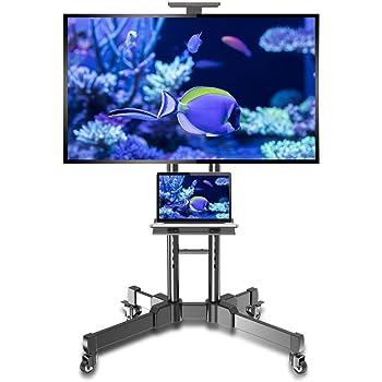 Soporte de TV móvil para 32-65 pulgadas plasma/LCD/LED Home Display Rolling Floor TV Cart VESA 200x200 a 600x400 TV Trolley sobre ruedas con estante Capacidad de carga máxima 50kg/110lbs: Amazon.es: Electrónica