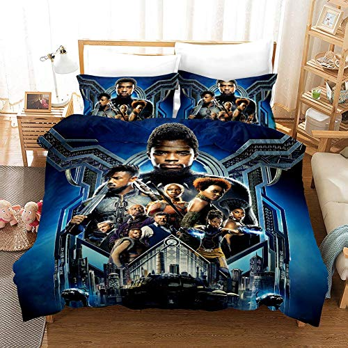 Duvet Cover Sets The Avengers Venom Spiderman Printing 3 Piece Set Bedding 100% Microfiber For Gifts (1 Duvet Cover + 2 Pillowcases) K-King(259x229cm)