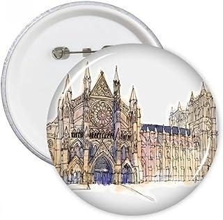 DIYthinker Westminster Abbeyof Londres Badge ronde Pins Bouton Vêtements Décoration 5pcs cadeaux Multicolore XL