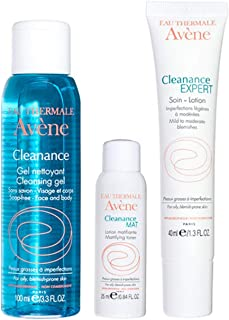 Eau Thermale Avene Cleanance Solutions: Blemish Control Regimen Kit for Acne Prone, Oily, Sensitive Skin