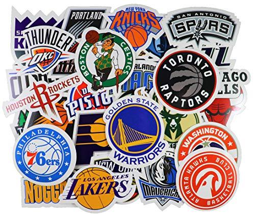 40pcs NBA Team Stickers Creative DIY Stickers Funny Decorative Cartoon for Cartoon PC Luggage Computer Notebook Phone Home Wall Garden Window Snowboard