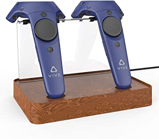 AMVR Dual Charger Magnetic Charging Station/Stand,Support Firmware Upgrade for HTC VIVE Controller