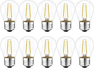 Suncan Juego de 10 bombillas LED E27 G45, estilo Edison vintage, 2 W, 2700 K, blanco cálido, 100 lúmenes, equivalente a bombillas de 10 W, no regulable, CA 220 V