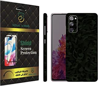 For SAMSUNG GALAXY S20 FE back full skin Green Camo Texture felling by whats mob (Not Cover)