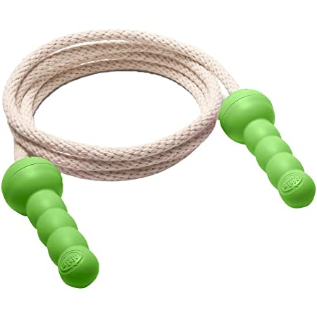 Green Toys Jump Rope - BPA Free, Phthalates Free, Green Handle Skipping Rope for Better Health, Increased Concentration. Fitness Equipment