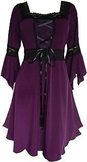 Women's Plus Size Victorian Gothic Renaissance Corset Dress