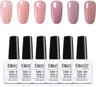 Elite99 Esmalte de Uñas Esmaltes Semipermenentes para Uñas 6pcs Kit de Uñas de Gel Soak off Pintauñas de Colores para M...