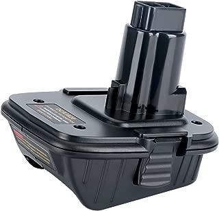 Biswaye 20V Battery Adapter DCA1820 for Dewalt 18V Tools, Convert Dewalt 20V Lithium Battery DCB205 for Dewalt 18V NiCad & NiMh Battery Tools DC9096 DW9096 DC9098 DC9099 DW9099