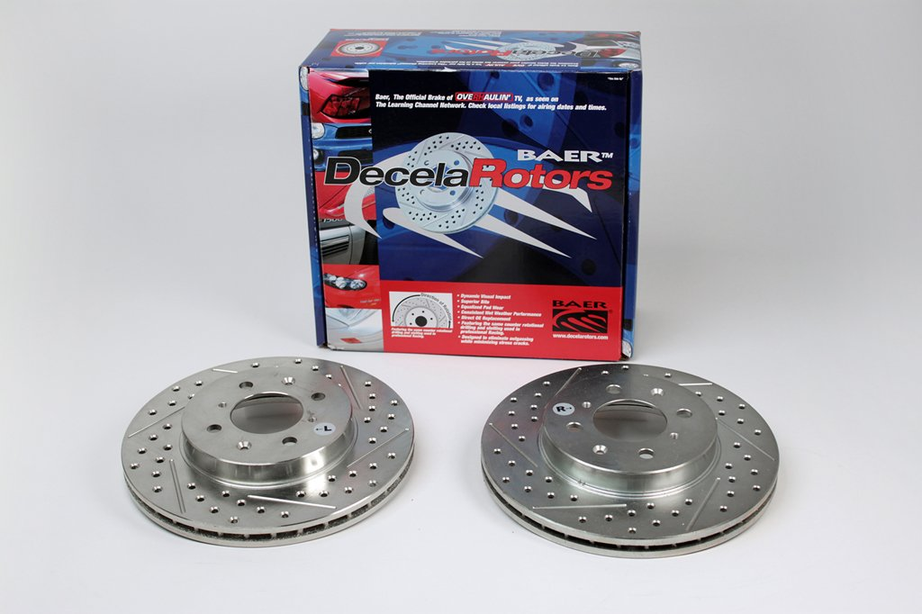 Pair Baeer Brakes BAER 54062-020 Sport Rotors Slotted Drilled Zinc Plated Front Brake Rotor Set
