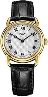 Rotary Women's Canterbury Black Leather Gold case LS05338/21
