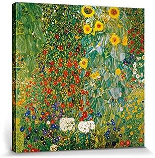 1art1 Gustav Klimt - Jardín De La Casa De Campo con Los Girasoles, 1905-1906 Cuadro, Lienzo Montado sobre Bastidor (70 x 70cm)
