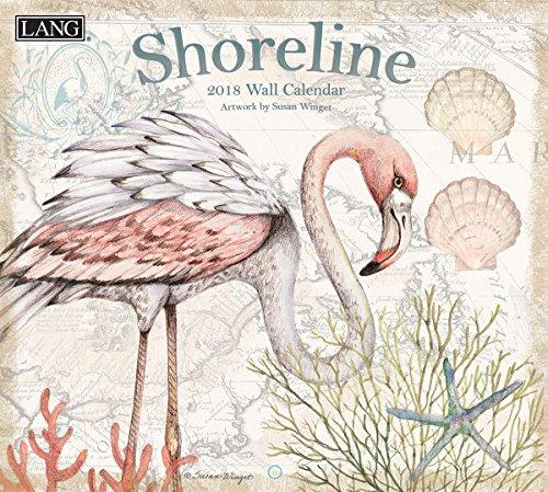 "LANG - 2018 Wall Calendar -""Shoreline"", Artwork by Susan Winget - 12 Month - Open 13 3/8"" X 24"""