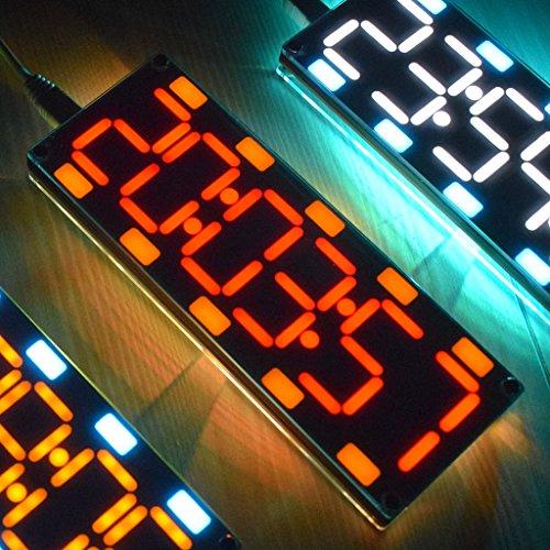 VIcoo DIY groot beeld 6-cijferige tweekleurige LED-kit met touch-bediening en temperatuur/datum/week - wit