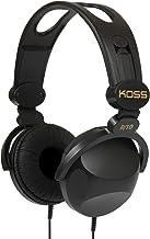 Koss R-10 On-Ear Headphones | Black | 8-foot cord | Lightweight