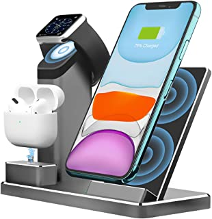 Aluminum Alloy Wireless Charger. ZIKU 3 in 1 Wireless Charging Stand Station Dock for Airpods Apple Watch 5/4/3/2 iPhone S...