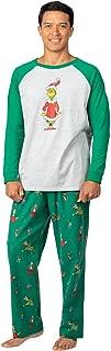 Fun Mens Christmas Pajamas - Grinch Pajamas for Men, Gray