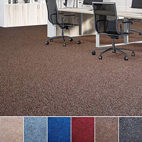 Floori® Nadelfilz Teppich, GUT-Siegel, Emissions- & geruchsfrei, wasserabweisend | Viele Farben & Größen (400x200 cm, braun)