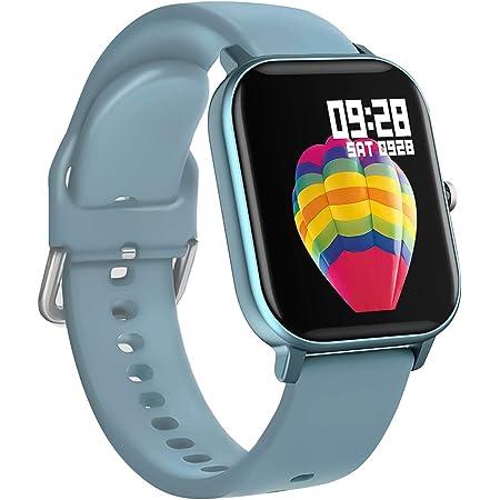 BINDEN Smartwatch P8 Oxímetro, Ritmo Cardíaco, Pantalla Touch, Multicarátulas, Salud y MultiDeportes iOS/Android, Azul Completo