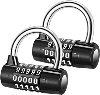 5 Digit Combination Lock Security Padlock Combination Resettable Locks Zinc Alloy Material Waterproof Number Lock for Gym ...
