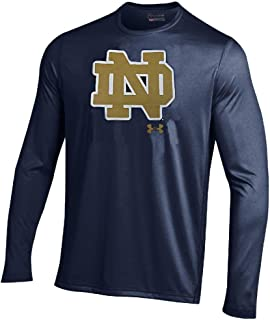 Under Armour Notre Dame Fighting Irish Navy EndZone Long Sleeve HeatGear T Shirt